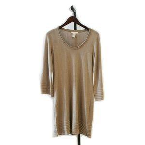 Tan/Gold Design History Dress